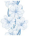 floral seamless background flower pattern border vector image vector image