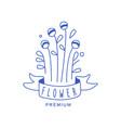 flower premium logo design floral emblem vector image vector image