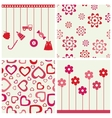 Flowers and hearths set vector image vector image