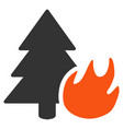 forest fire flat icon vector image