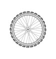 front monochrome wheel of bike vector image vector image