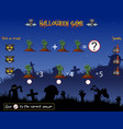 game count the hands zombie in the halloween theme vector image
