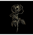 Golden Rose sketch vector image vector image
