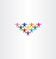 group of people students colorful icon logo vector image