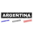 grunge argentina scratched rectangle watermarks vector image vector image