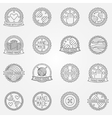 Hand made linear labels vector image vector image