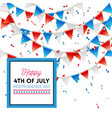 happy 4th july independence day card design vector image