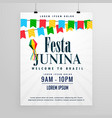 happy festa junina poster design invitation vector image vector image