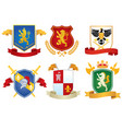 heraldic shield set collection vector image vector image