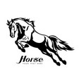 horse animal silhouette black icon logo vector image vector image