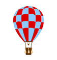 hot air balloon in blue and red design vector image