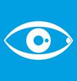 human eye icon white vector image