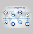 infographic design with health icons vector image vector image