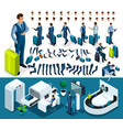 isometric set 1 create your character vector image vector image