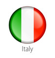 italy round button flag vector image