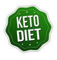 keto diet label or sticker vector image vector image