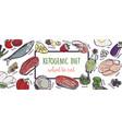 ketogenic diet sketch banner vector image