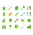 kitchenware color silhouette icons set vector image