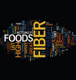 list of high fiber foods text background word vector image vector image