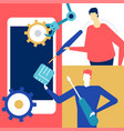 mobile repair - flat design style colorful vector image
