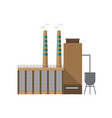 modern industrial factory building or boiler house vector image