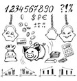 Money doodle vector image vector image