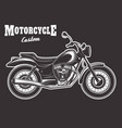 motorcycle on dark background vector image vector image