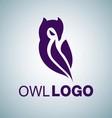 OWL LOGO 4 vector image vector image
