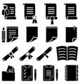 Paper diploma and sheet set vector image vector image