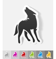 Realistic design element wolf