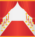 red carpet ceremonial vector image vector image