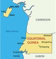 republic equatorial guinea - map vector image vector image