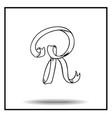 Ribbon sketch alphabet vector image