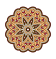 round ethnic pattern in shades of brown vector image