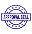 scratched textured approval seal stamp seal vector image