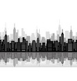 seamless cityscape vector image vector image