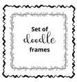 seasonal ornaments doodle patterns decorative vector image vector image