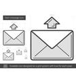 Send message line icon vector image vector image