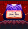 show time concept vector image vector image