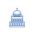 small mosque line icon concept small mosque flat vector image vector image