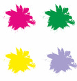 Splash in Red Green Yellow and Violet Color vector image vector image