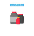 sport nutrition fit icons vector image