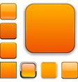 Square orange app icons vector image vector image