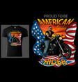 t-shirt design american rider vector image vector image