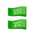 tags eco bio food organic product labels vector image vector image