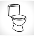 toilets on white background vector image vector image