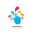 Touch screen finger - logo template concept vector image vector image