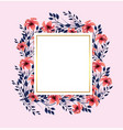 tropical flowers plants with square label vector image