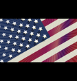 USA flag in glowing halo style vector image