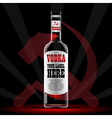 vodka bottle mockup with your label here vector image vector image